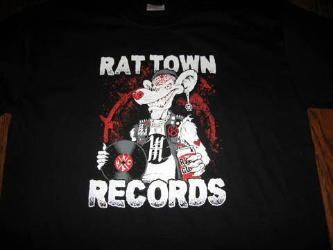 "RAT TOWN RECORDS ""Ratical"" T-Shirt Black (2X-Large)"