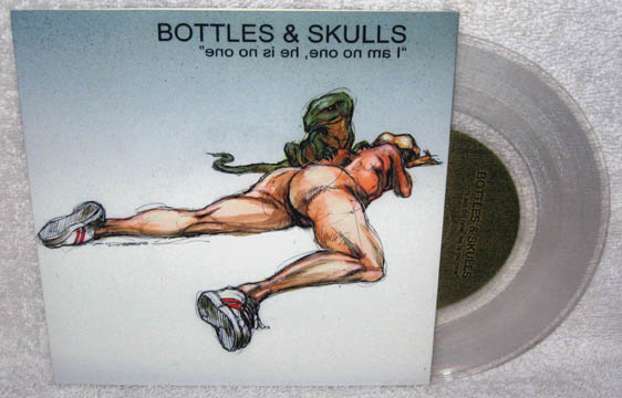 "BOTTLES & SKULLS ""I Am No One"" 7"" (TKO) Clear Vinyl - Click Image to Close"