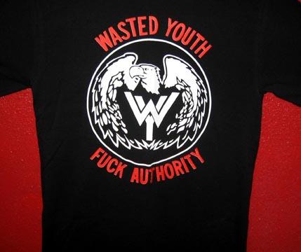 35e087c64 WASTED YOUTH Fuck Authority T-Shirt (Large) [T-Shirt] - $15.99 : Zen ...